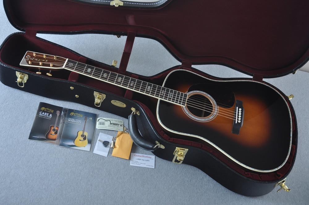 Martin D-41 (2018) Standard 1935 Sunburst Acoustic Guitar #2193531 - Case