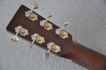 Martin Custom Shop 0-18 Adirondack Clear Acoustic Guitar #2146970 - Back Headstock