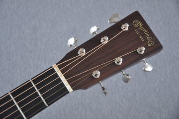 Martin Custom Shop 0-18 Adirondack Clear Acoustic Guitar #2146970 - Headstock