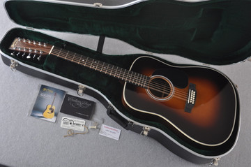 Martin Custom Shop D12-28 Adirondack Sunburst 12-String Acoustic Guitar #2166941 - Case