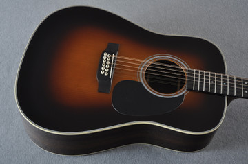 Martin Custom Shop D12-28 Adirondack Sunburst 12-String Acoustic Guitar #2166941 - Top