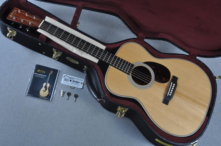 Martin Custom Shop OM-28 VTS Adirondack Guatemalan Acoustic Guitar #1949714  - Case View