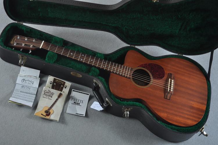 2001 Martin OMC-15ME All Mahogany Cutaway Acoustic Electric #844193 - Case