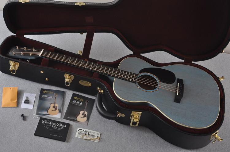 2017 Martin Custom Shop 000-15 Sonic Blue Acoustic Guitar #2105109 - Case
