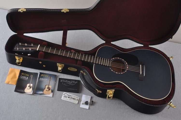 Martin Custom Shop 000-15 Navy Blue Acoustic Guitar #2109314  - Case