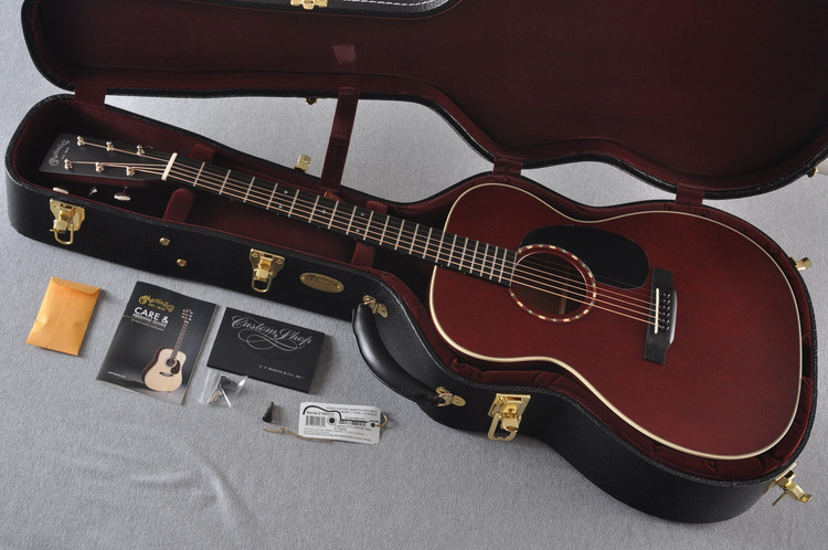 Martin Custom Shop 000-15 Red Acoustic Guitar #2109317 - Case