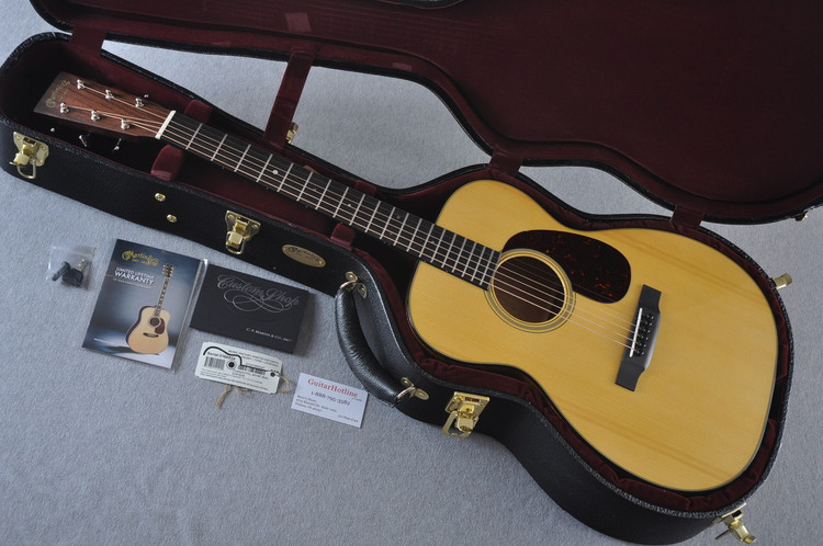 Martin Custom Shop 00-18 Adirondack Spruce Top Acoustic Guitar #2166934 - Case