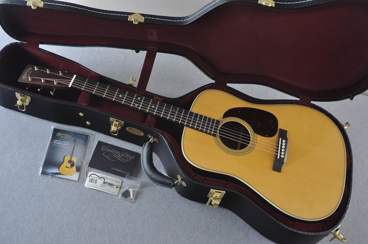 Martin Custom Shop D-28 Dark Indian Rosewood Acoustic Guitar #2210059 - Case