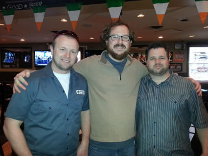 Jay Myer, Martin Guitar Regional Sales Rep - Mark Rohrer, Reno's Music - Brenden Hackett, Martin Guitar Sales Events Manager