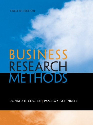 Business Research Methods (12th Edition) Cooper