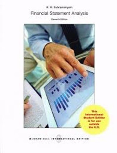 Financial Statement Analysis (11th Edition) Subramanyam IE