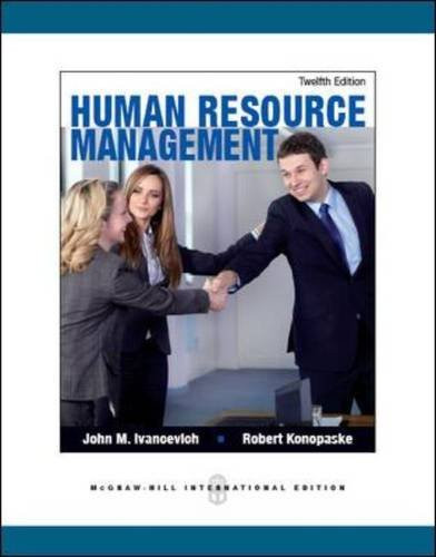 Human Resource Management (12th Edition) Ivancevich IE