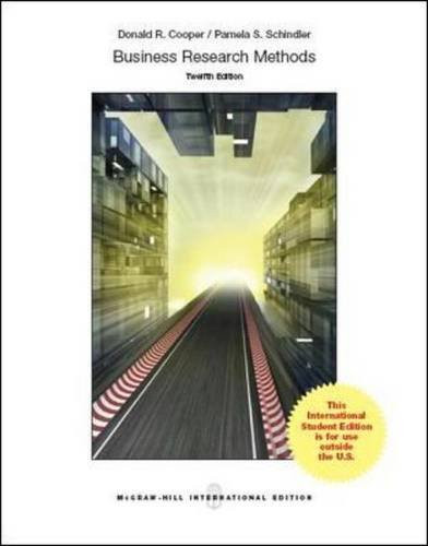 Business Research Methods (12th Edition) Cooper IE