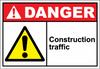 Danger Sign construction traffic
