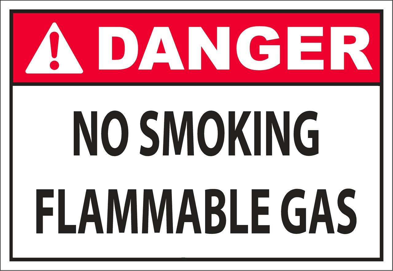 DANGER_no smoking flammable gas