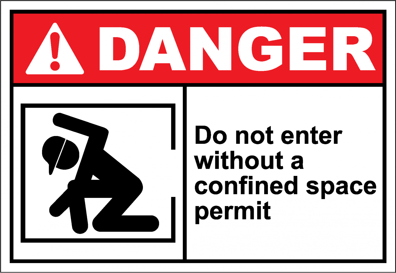 Danger Sign do not enter without a confined space