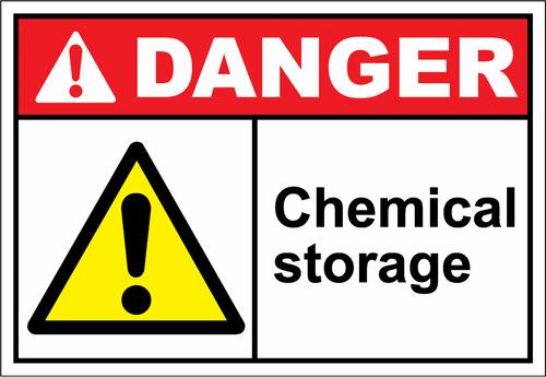 Danger Sign chemical storage