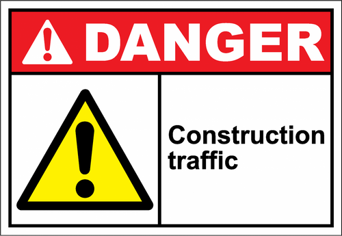 Danger Sign construction traffic