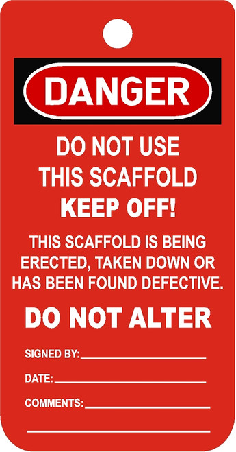 Do Not Use Scaffold or Climber
