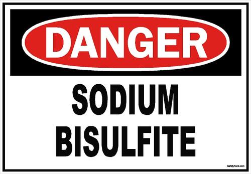 Sodium Bisulfite Sign