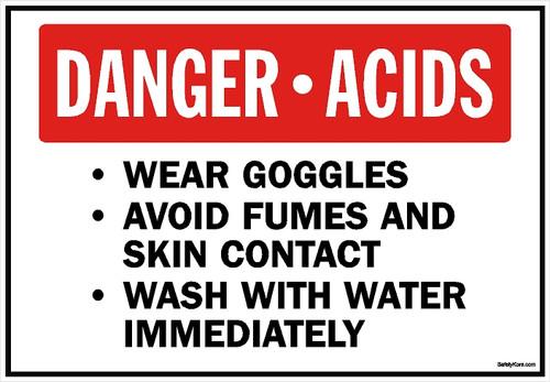 Danger Acids Sign