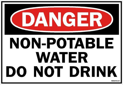 Non Potable Water Do Not Drink