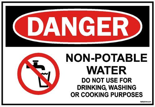 Non Potable Water Do Use Sign