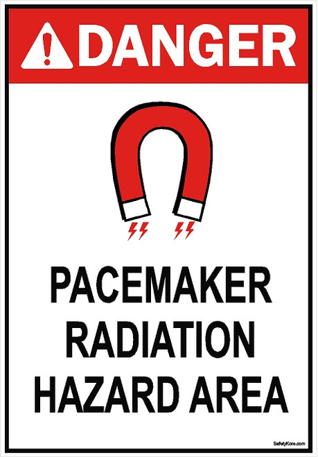 Pacemaker Radiation Area Sign