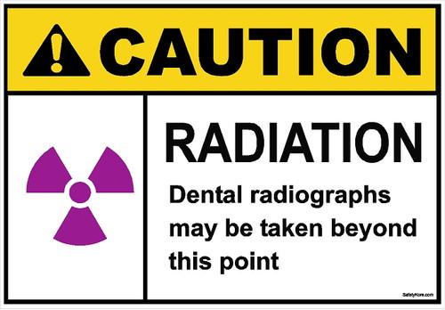 Radiation Dental Warning Sign