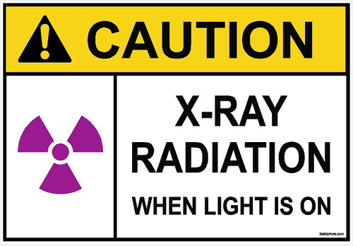 X-RAY Radiation When Light Is On Sign
