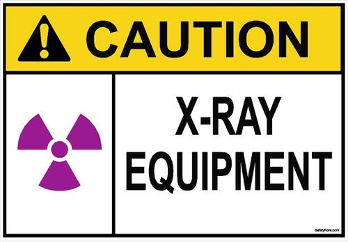 X-RAYS Equipment Sign