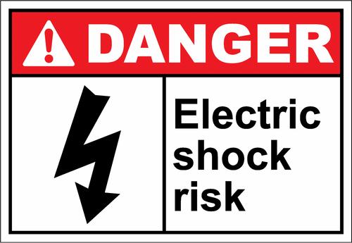 Danger Sign electric shock risk