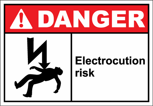 Danger Sign electrocution risk