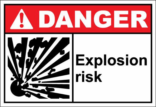 Danger Sign explosion risk