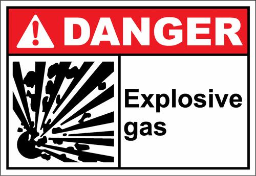 Danger Sign explosive gas
