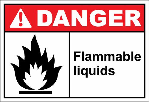 Danger Sign flammable liquids