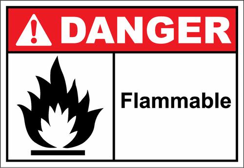 Danger Sign flammable