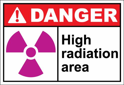 Danger Sign high radiation area