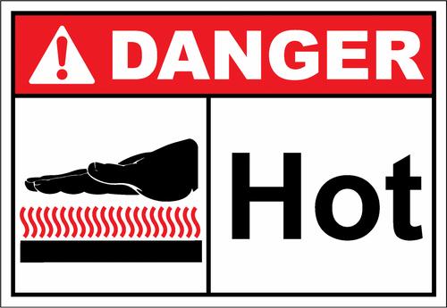 Danger Sign hot