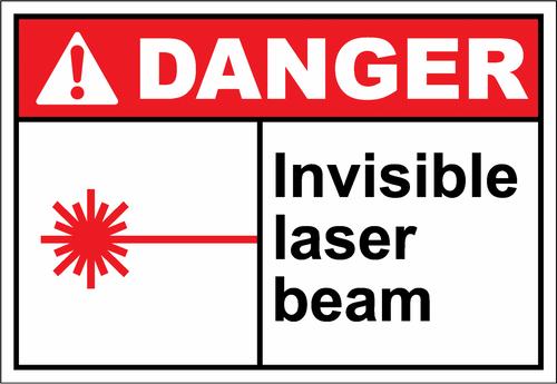 Danger Sign invisible laser beam