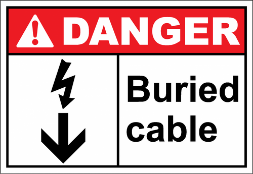 Danger Sign buried cable