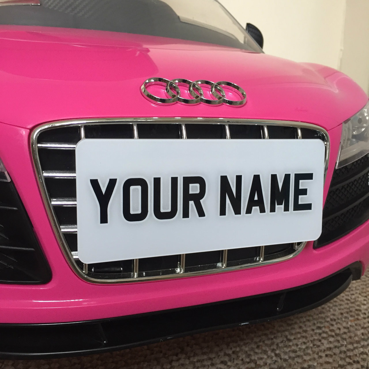 """Name Plates For Cars >> 6x2.5"""" White & Black Childrens Personalised Plastic Name"""