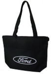 Ford Oval Zippered Tote Bag