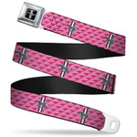 Mustang Seatbelt Belt - Pink Tri-Bar