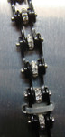 Bracelet - Timing Chain w/Crystals - All Black