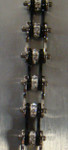 Bracelet - Timing Chain w/Crystals - Silver/Black