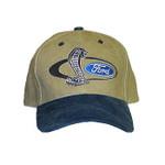 SVT Shelby Mustang Cobra Snake Hat Tan / Blue