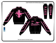 Gals Mustang Multi-Logo Jacket in Pink (Script Style)