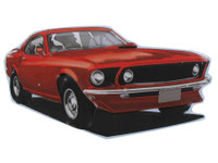 1969 Ford Mustang Embossed Magnet