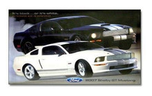 2007 Shelby GT Mustang Cobra Poster (Black & White Mustangs)